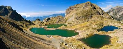 Lacs robert dans les alpes Images libres de droits