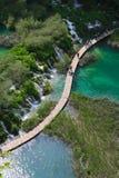 Lacs stupéfiants parc national, Croatie Plitvice Photographie stock