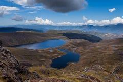 Lacs Sylvester en stationnement national de Kahurangi, NZ Images libres de droits
