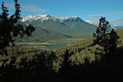 Lacs vermeils, Banff Alberta Canada. Photographie stock libre de droits