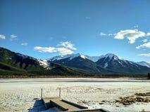 Lacs vermeils en parc national de Banff, Alberta, Canada Photographie stock