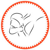 Lactation. Mother breastfeeding. The symbol of healthy lifestyles. Vector illustration drawn by hand vector illustration