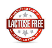 Lactose free food seal illustration Stock Images
