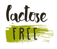 Lactose free hand drawn isolated label Stock Images