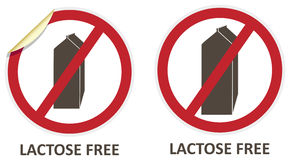 Lactose Free Icons Royalty Free Stock Photo