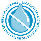 Lactose free label sign Stock Photography