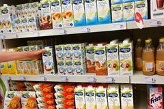 Lactose-free Milk substitutes Stock Image