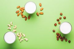 Lactose Free non diary milk for healthy and dietary nutrition.  royalty free stock photo