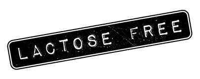 Lactose free rubber stamp Royalty Free Stock Photo