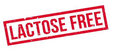 Lactose free rubber stamp Royalty Free Stock Image
