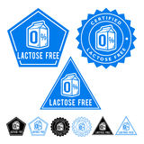 Lactose Free Seals Set Royalty Free Stock Photo