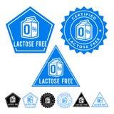Lactose Free Seals Set Royalty Free Stock Photo