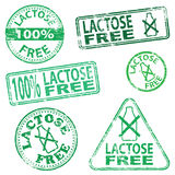 Lactose Free Stamps Stock Image