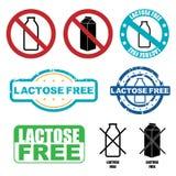 A lactose livra símbolos Imagem de Stock