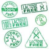 A lactose livra selos Imagem de Stock