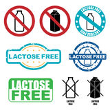 Lactose vrije symbolen Stock Afbeelding