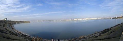 Lacu Morii. A panorama from Morii Lake royalty free stock photos