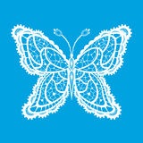 Lacy abstract butterfly. Abstract silhouette invented decorative butterfly. It is designed to decorate. This is reminiscent of lace vector illustration