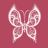 Lacy abstract butterfly. Abstract silhouette invented decorative butterfly. Reminiscent of lace, it is designed to decorate vector illustration