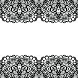 Lacy backgound. Black lace. Royalty Free Stock Image