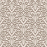 Lacy beige pattern Stock Image