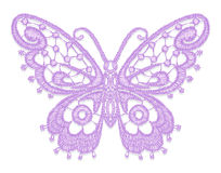 Lacy butterfly. Stock Images