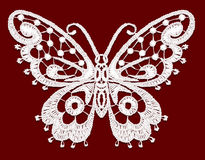Lacy butterfly. Royalty Free Stock Photos