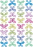 lacy butterlies stock illustrationer