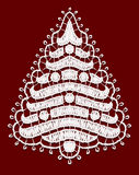 Lacy Christmas tree. Stock Photos