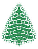 Lacy Christmas tree. Royalty Free Stock Photos