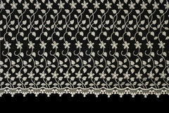 Lacy cloth with flowers pattern Stock Photography