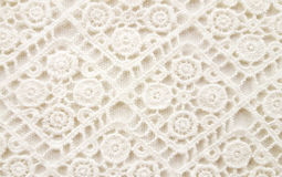 Lacy crochet background Royalty Free Stock Images