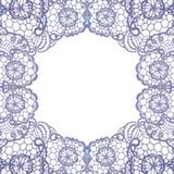 Lacy elegant frame. Invitation card. Stock Images