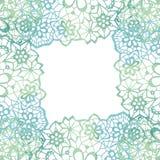 Lacy elegant frame. Invitation card. Stock Image