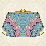 Lacy elegant purse. Royalty Free Stock Images