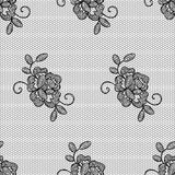 Lacy flower seamless pattern. Stock Photos