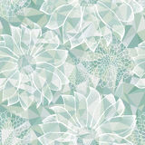Lacy Flowers Seamless Pattern Stock Photography