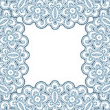 Lacy frame Royalty Free Stock Image