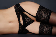 Lacy garter belt Royalty Free Stock Images