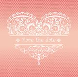 Lacy greeting for wedding ceremony Royalty Free Stock Photography