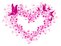 Lacy heart and butterfly. Vector illustration Stock Photography