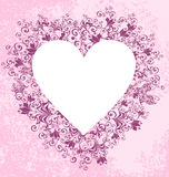 Lacy heart on dirty background. Vector Stock Photos