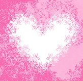 Lacy heart on dirty pink background. Vector Stock Photography