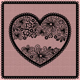 Lacy heart with empty lace net space Royalty Free Stock Image