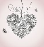 Lacy heart Royalty Free Stock Images