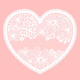 Lacy heart on pink background Royalty Free Stock Image