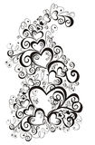 Lacy heart. Vector illustration Stock Photos