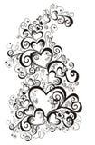 Lacy heart. Vector illustration Stock Photos