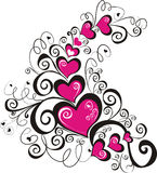 Lacy heart. Vector illustration Royalty Free Stock Photos