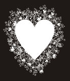 Lacy heart. Vector illustration Royalty Free Stock Photo
